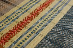 swedish rye scarf on loom