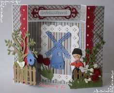 Tiny's Kaarten: Holland 3d Cards, Marianne Design, Holland, Windmill, Advent Calendar, Card Making, Holiday Decor, Flowers, Diy