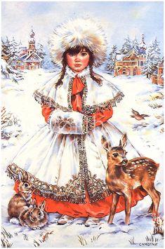 Winter Paintbox Poppets : Snow Princess © Copyright Christine Haworth Designs