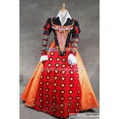 alice-in-wonderland-queen-of-hearts-dress-cosplay-costume-8d9.jpg... ❤ liked on Polyvore featuring costumes, cosplay costumes, alice costume, alice in wonderland halloween costume, alice in wonderland costume and alice in wonderland queen of hearts costume