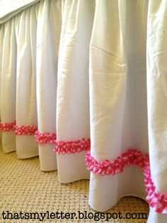 """Good tutorial for a ruffled bedskirt......That's My Letter: """"B"""" is for Bedskirt"""