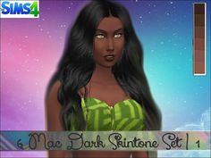 Mod The Sims: 6 Mac Dark Skintone Set by giadoll • Sims 4 Downloads
