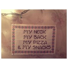 This sex-positive cross-stitch. | 26 Things That Prove Feminism And Pizza Are Undeniably Linked