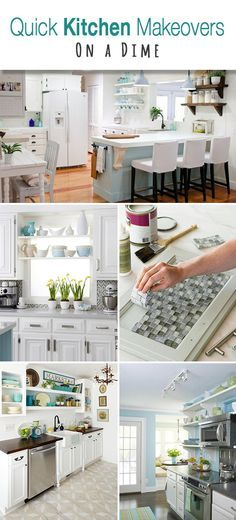 Quick Kitchen Makeovers on a Dime • Easy, fast and inexpensive kitchen makeovers and decorating tricks and ideas!