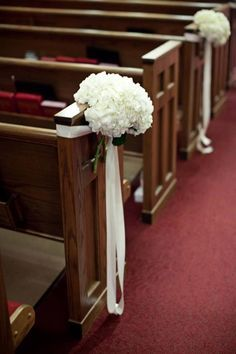 church wedding white decorations - Google Search