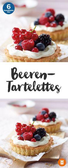 Beeren-Tartelettes | Dessert, Gebäck, 6 Portionen, 6 Smartpoints/Portion, Weight Watchers, fertig in 35 min.