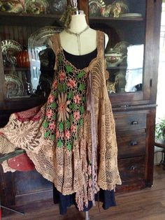 Luv Lucy crochet dress Lucys Rose Garland  by TheVintageRaven, $195.00