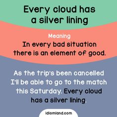 Every cloud has a silver lining. - Repinned by Chesapeake College Adult Ed. We offer free classes on the Eastern Shore of MD to help you earn your GED - H.S. Diploma or Learn English (ESL) . For GED classes contact Danielle Thomas 410-829-6043 dthomas@chesapeke.edu For ESL classes contact Karen Luceti - 410-443-1163 Kluceti@chesapeake.edu . www.chesapeake.edu