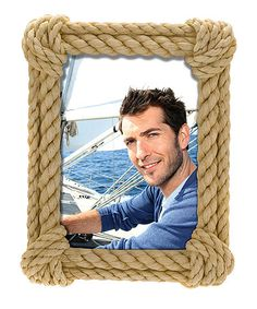 Idea for a small nautical rope picture frame wrap it Rope photo frame