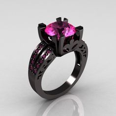 unusual wedding rings | Unique Wedding Ring Design with Black Band | FashionChoice