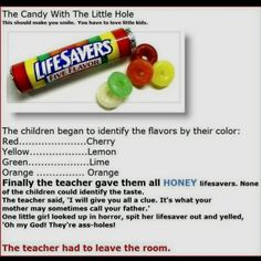 The candy with the little hole.