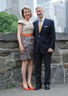 Prince Philippe - Prince Philippe And Princess Mathilde Of Belgium Visit Central Park