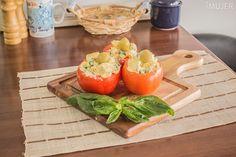 Tomates rellenos con albahaca y queso - El Gran Chef