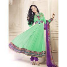 Stylist Bollywood Online Designer Raveena Tandon Again Embroidery Designer Online Anarkali Salwar Suit