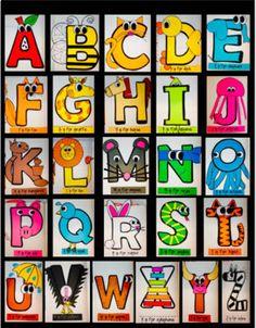 Alphabet Interactive Notebook / Uppercase Crafts by Crafty Teacher Link