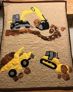 Heavy equipment excavator quilt.