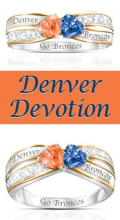 Denver Devotion Let your love for the Mile High City (and their legendary football team) sparkle in our Heart of Denver Broncos Ring.