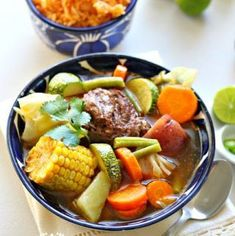 "Mexican Beef Soup - ""Cocido"", Caldo de res or ""puchero"" are some of the names this Beef and vegetable stew is known for in México."