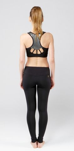 Nina.B.Roze Black Racer Stitch Sports Bra by NinaBRoze on Etsy, $54.00 #fitness #activewear #activeapparel #sportyourpretty #ninabroze