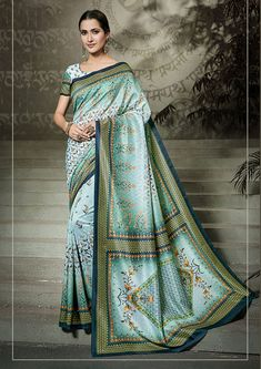 Step out in style by wearing an attractive looking latest sky blue and Peach Color Indian Marriage Lehenga Choli. Party wear lehenga made from pure satin and designed with resham and stone pearl work. Designer Bridal Lehenga, Bridal Lehenga Choli, Ethnic Sarees, Silk Sarees, Cotton Saree, Marriage Lehenga, Bollywood Lehenga, Sabyasachi, Buy Designer Sarees Online