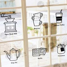 window shop cafe decor - Tìm với Google