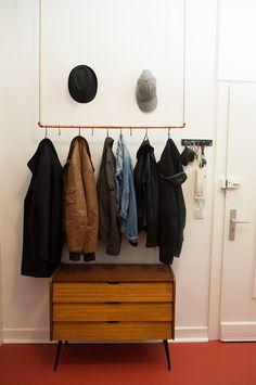 Schreibtisch selber bauen bunt holz preisg nstig for Garderobe seil