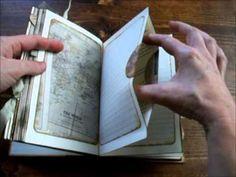 Altered Book Photo Album - Junk Journal Flip Through                                                                                                                                                      More