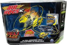 Air Hogs Heli Cage Remote Control Ultra-Armored Helicopter- Yellow