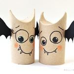 5 min toilet paper roll bat buddies (halloween craft) | Recyclart