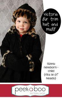 Victoria Fur Trim Hat & Muff