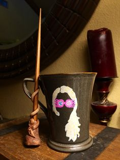 Luna Lovegood wand and mug gift set Harry by HighHeeledHousewife