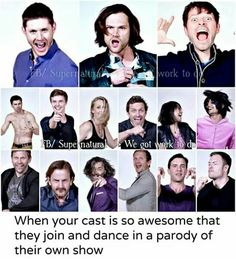 That's why we love the Supernatural cast! #hillywood