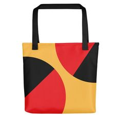 The Balance Yellow Tote bag Beautiful Lines, New Journey, Tote Bags, Yellow, Unique, Color, Black, Black People, Tote Bag
