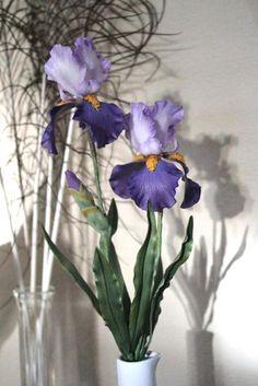 Iris Flower Spray - via @Craftsy