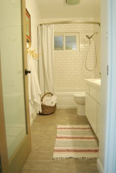 This is the same layout as the kid's bathroom but this looks so much better!