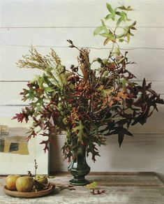Simplistic autumnal floral composed of elements most people have in their own yards.