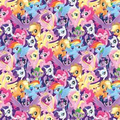 3.5 GBP - My Little Pony Hasbro Packed Ponies 100% Cotton Quilting Fabric #ebay #Home & Garden