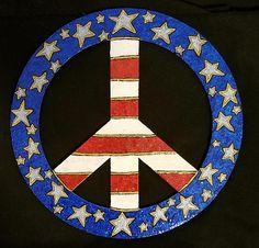 Peace Is Patriotic Happy Hippie, Hippie Love, Hippie Art, Hippie Style, World Peace, Peace Of Mind, Peace And Love, Peace Sign Art, Peace Signs