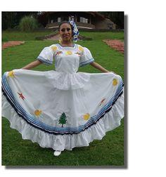 Vestido regional de Quintana Roo, Medio vuelo Quintana Roo, Apron, Fashion, Ethnic Dress, St Louis, Moda, Fashion Styles, Fashion Illustrations, Aprons