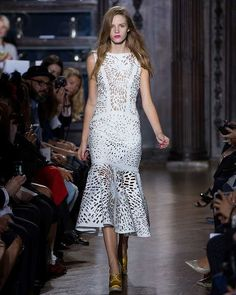 From Giles spring/summer 2013 at London Fashion Week - see more of the #Lasercuts Wedding Trend at 3d-memoirs.com