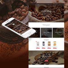 Coffee Shop Website #ecommerce #shop #coffee