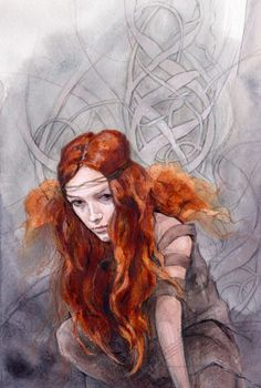 This painting continues my abiding theme of female warriors and huntresses. This flame-haired warrior springs from my fascination with my Celtic Art And Illustration, Illustrations, Fantasy Kunst, Fantasy Art, Books Art, Character Inspiration, Character Design, Celtic Warriors, Female Warriors
