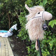 Handmade 'hobby horse' llama from The rustic horseshoe pattern. Stick Horses, Horse Pattern, Hobby Horse, Goats, Rustic, Handmade, Animals, Design, Art