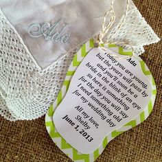 the sweetest flower girl gift. Not to she about the gift though. Maybe a hairpiece or something