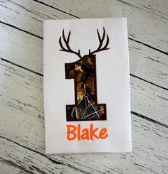 Hunting Birthday Shirt  Camo Birthday Shirt Deer by jcoolcreations