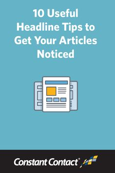 It's very important that your headlines are intriguing, valuable, helpful, or a combination of any of those. Doing this will make your content stand out in the organic search results and drive more qualified traffic to your website. Try implementing these tips in some of your upcoming blog article headlines to hook your readers and reel them in! http://blogs.constantcontact.com/fresh-insights/useful-headline-tips/