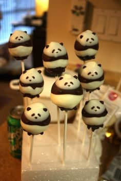 Panda cake pops - these are adorable but I would never be able to make them!