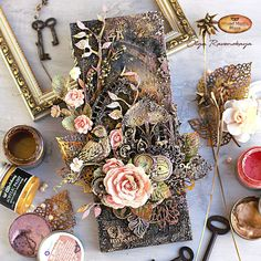 Canvas with gothic window in shades of brown, pink and black by Olga Ravenskaya is up on our blog today. The project is very romantic, even if the colour palette is not typical one. Gothic Windows, Golden Nugget, Deco Nature, Mixed Media Canvas, Wax, Floral Wreath, Shabby Chic, Old Things, Creations
