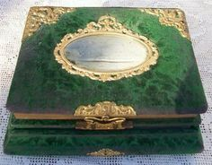 Victorian Photo Album with ink Well