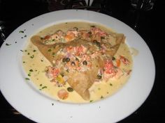 La Creperie - Belmont Shore (Long Beach), CA.  Le Saumon Crepe - salmon filet, red onions, dill, tomatoes, capers and mozarella in a cream sauce.  And then, there's dessert!